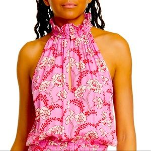 NWT Floral Halter Silk Blouse by A.L.C.